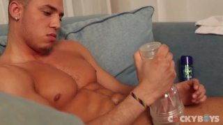 Muscular Michael and his Fleshjack Session