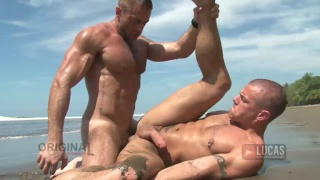 Jake Genesis & Jesse Santana in Outdoor Fuck Scene