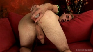 Czech Guy Loves Playing with Dildos