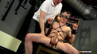 Twink Tied Up and Jacked Off