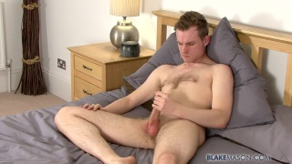 Hairy Gay Brit Jacks his Hard Cock