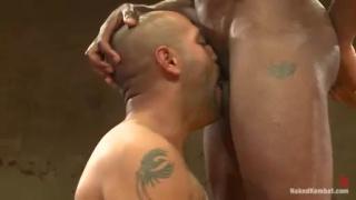 Leo Forte vs Race Cooper - Wrestling Nude