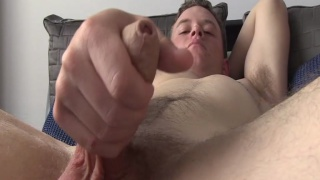 Irish Lad Jacking Foreskin Cock