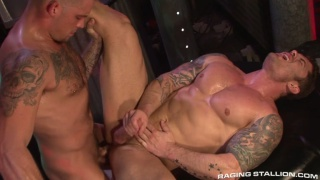 Furry Caleb Colton Fucks Bodybuilder Mitchell Rock