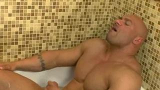 Randy Jones poses naked in bathroom