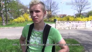 Straight Blond Czech Paid for Sex