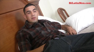 Cute Nude Latin Guy Jacks Off