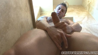 Cody Cummins strokes his massive boner
