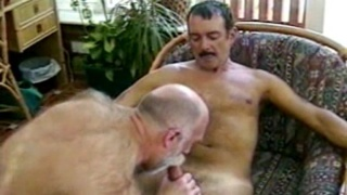 Threeway mature patio sex