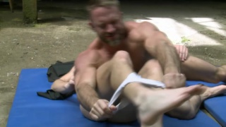 Dirk Caber Wrestles Jace Tyler on the Mats