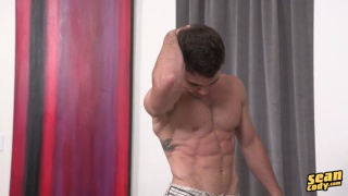 Andy shows off naked at Sean Cody