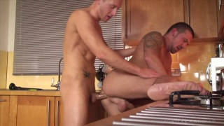 Kingsley Rippon stuff fat cock in Marco Sessions' ass