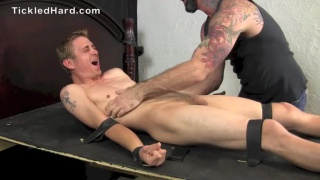 tied up stud gets armpits tickled