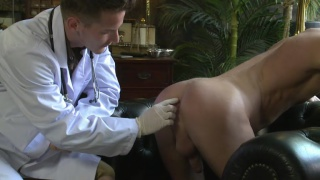hung doctor plays with patient's ass