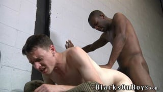 skinny black top riding white boy's butt