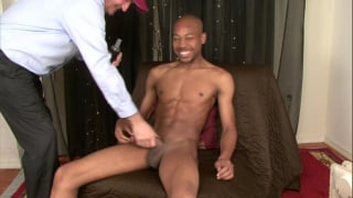 Wife gives black man handjob