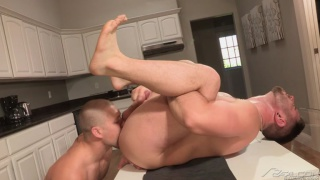 Nick Sterling sits on Bobby Clark's cock