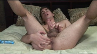 Hayden plays with his foreskin and ass
