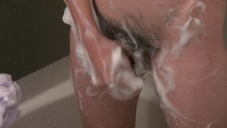 japanese guy showering and beating off