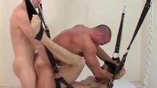 twink fucked raw in a sling