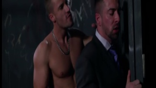 executive fucked in sling by jockstrap top