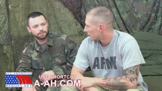 hung sergeant gets his ass fucked