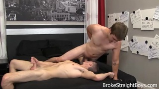 bottom gets throat and ass fucked
