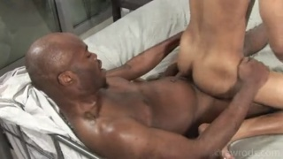 black bottom riding a hunky bald top