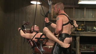 hung stud in ginger master's dungeon