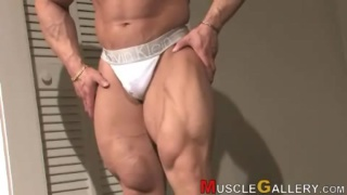 Daryl Gee shows his muscle