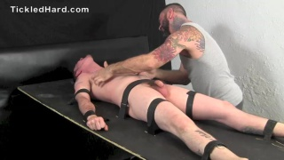 tickled straight guy begging