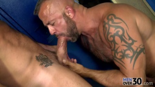 hairy hunks fuck in gym locker room