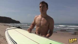 surfer comes in for a stroke