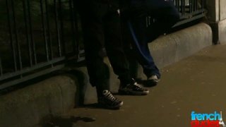 French guys hook up on street