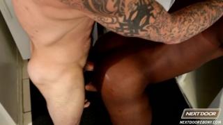 hung Sam Swift fucks black bottom Damian Brooks