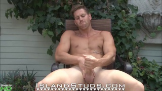 mechanic strokes uncut dick with both hands