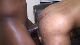 horny raw bottom gets a big thick black dick