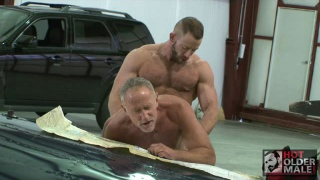 furry muscle hunk fucks older man