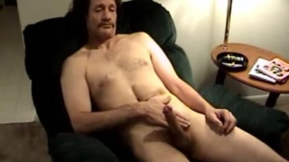 miserable young man jacking off