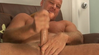 Skinhead mature stud with big dick