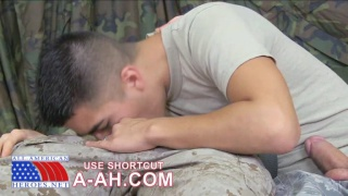 Military Guys Suck and Swallow