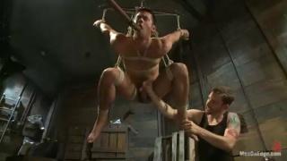 bound Mike De Marko cock edged
