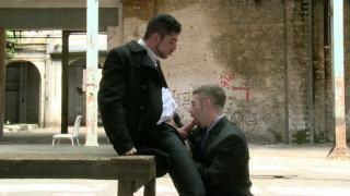 Leo Domenico and Adam Wirthmore fuck in warehouse