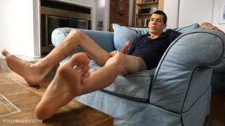toe teasing jack off session
