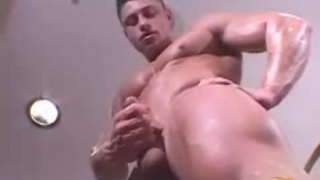 Rock solid muscular hunk poses