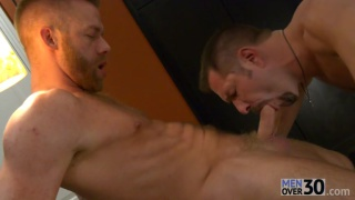 blond bearded bottom fucked by hairy stud