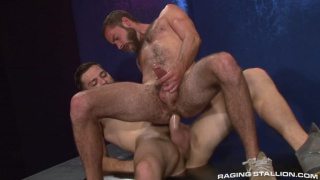 hairy bearded dude hungry for big dick