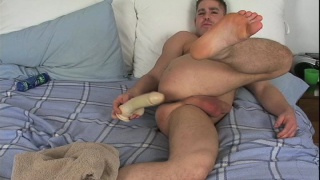 Dildo fucking his own ass