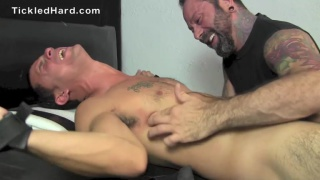 Beefy straight stud is crazy ticklish