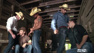 Johnny Rapid Gang Banged by Cowboys